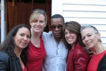 "At Lancelot's ""RED"" party--a rare sighting of us NOT in dance clothes!"